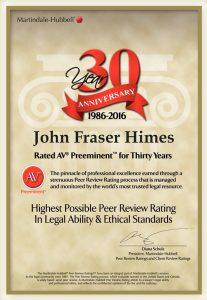 John Fraser Himes Rated Av Preeminent
