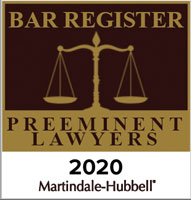 Bar Register Preeminent Lawyers 2020